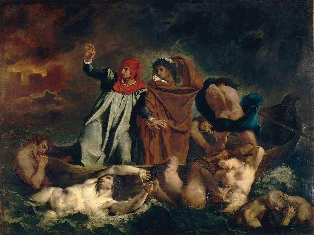 Dante y Virgilio en el Infierno | Eugène Delacroix (1822)