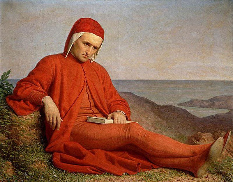 """""""Dante en el exilio"""" (1860), obra atribuida a Domenico"""