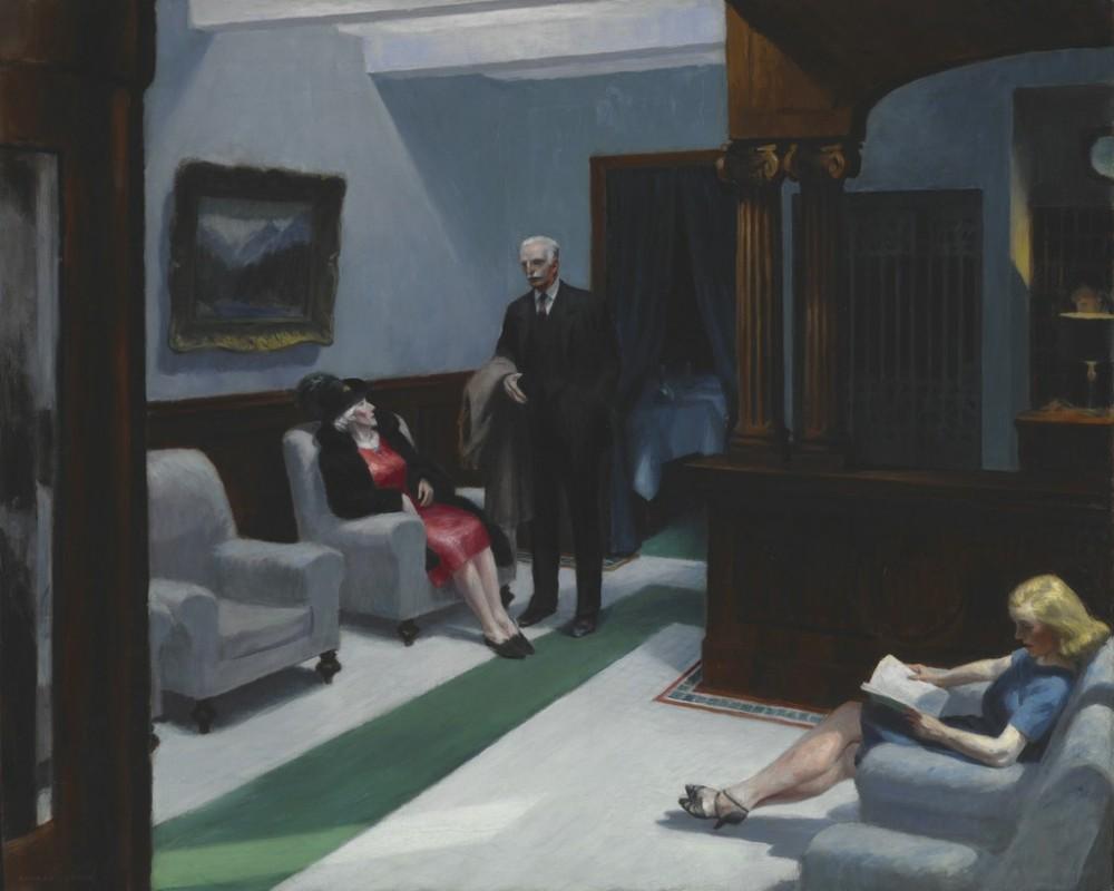 02 - Edward Hopper, Hotel Lobby, 1943, Indianapolis Museum of Art