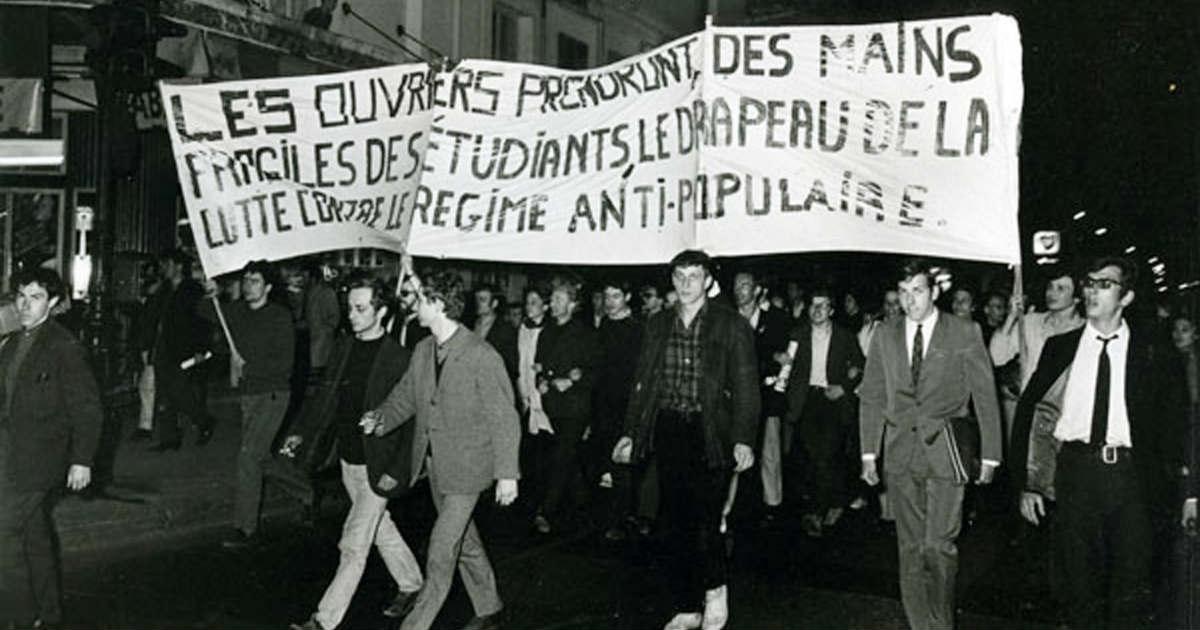 Una esperanza defraudada: «Los obreros tomarán de las manos frágiles de los estudiantes la bandera de la lucha contra el régimen antipopular».