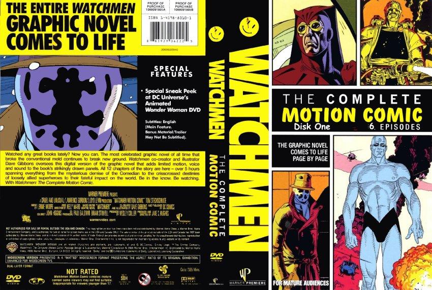 Carátula del motion comic The Watchmen   Warner Bros. Entertainment